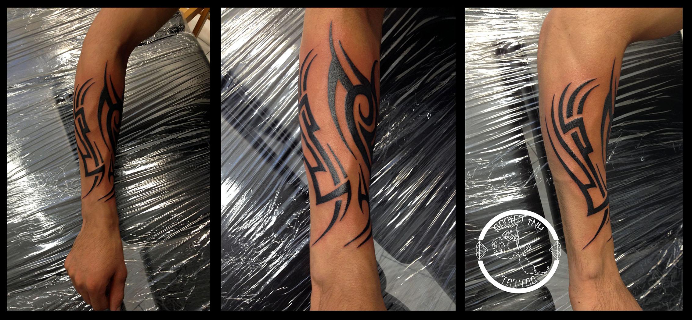 Tatouage Tribal Sur Avant Bras Addict Ink Tattoo Nice